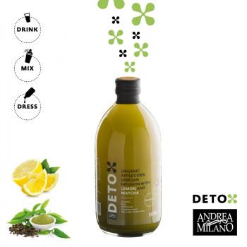 BIO DETOX jabolčni kis matcha limona I hujšanje in razstrupljanje I www.brezsladkorja.si