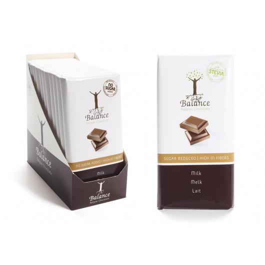 mlečna čokolada s stevijo brez sladkorja