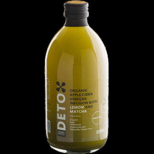 BIO DETOX jabolčni kis matcha in limona I hujšanje in razstrupljanje I www.brezsladkorja.si