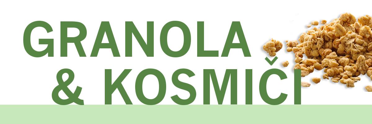 Granola in kosmiči - www.brezsladkorja.si