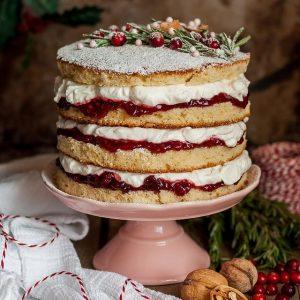 Torta z malinami