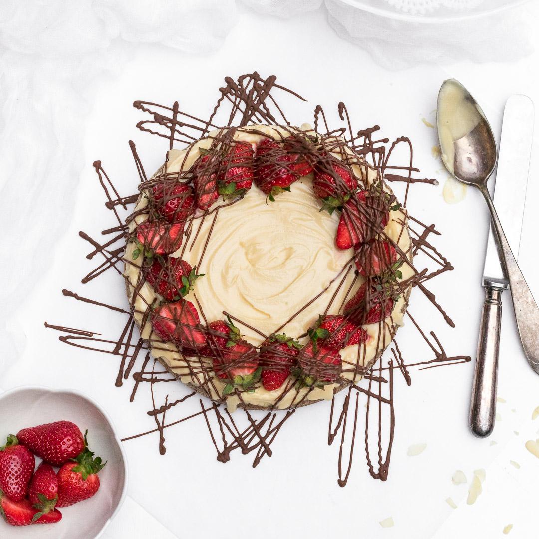 Proteinski cheesecake brez sladkorja